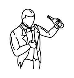 Bachelor party icon doodle hand drawn or outline vector