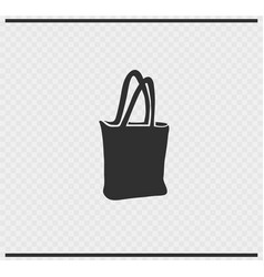 bag icon black color on transparent vector image