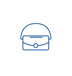 bag line icon concept bag flat symbol vector image