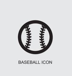 Baseball icon vector