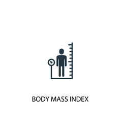 body mass index icon simple element vector image