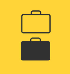 briefcase thin line icon flat icon isolated on vector image
