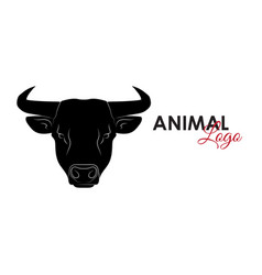 bull icon logo symbol vector image