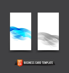 Business Card template set 18 light blue curve and vector