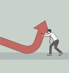 business growth development achieving success vector image