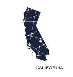 California state map vector