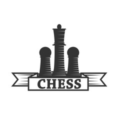 Chess club icon template of chessman king vector