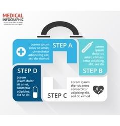 Circle plus sign medicine chest healthcare vector