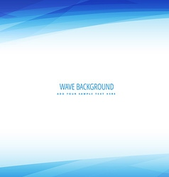 Clean business wave background vector