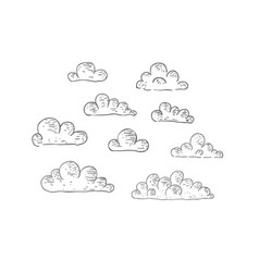 Clouds vintage vector