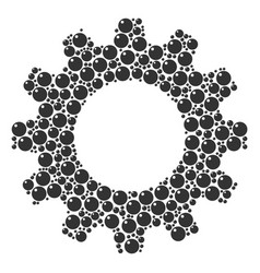Cog composition of sphere icons vector