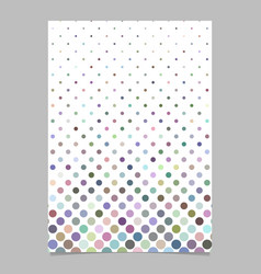 color circle pattern poster design - page vector image