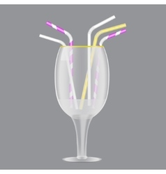 Colorful drinking straws set vector image
