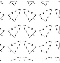 Dotted shape pine tree christmas decoration vector