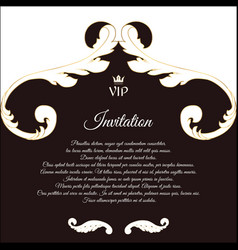 Elegant postcard for vip invitations and vector