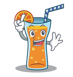 finger cocktail character cartoon style vector image
