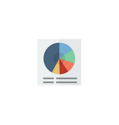 flat circle chart element of vector image