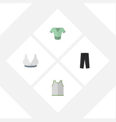 flat icon clothes set of brasserie casual pants vector image