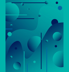 Fluid modern background with lines and gradients vector
