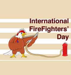 for international firefighters day vector image