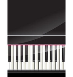 Grand piano keys background vector