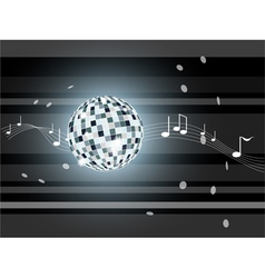 Gray background with mirror ball vector image