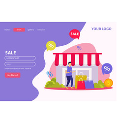 great sale flat banner vector image
