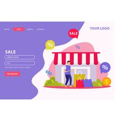 Great sale flat banner vector