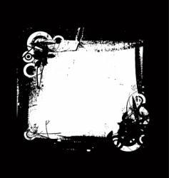Grunge frame floral vector