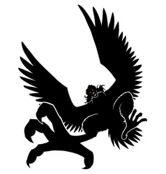 harpy silhouette on white vector image
