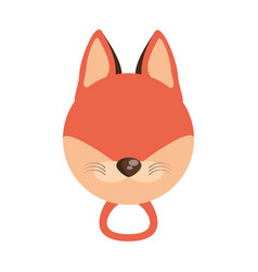 head cute fox animal image vector image