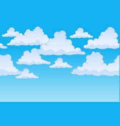 Horizontally seamless sky with clouds 1 vector