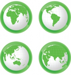icons globe vector image