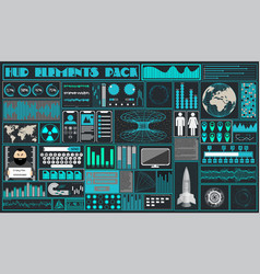 Interface in the style of a cartoon hud vector