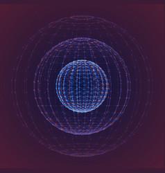 Interstellar space polygonal background vector