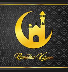 islamic and mosque for greeting of ramadan kareem vector image