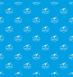 jurassic pattern seamless blue vector image