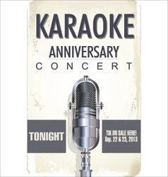 Karaoke poster background vector image