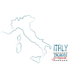 Map of italy drawn by hand on white background vector