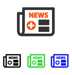 Medical newspaper flat icon vector