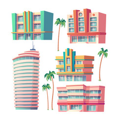 modern hotels and office buildings vector image