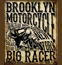 Motorcycle racing typography graphics and poster vector