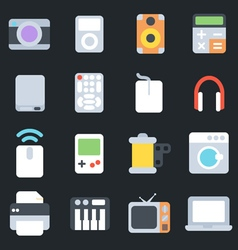 Multimedia Flat Icons vector image