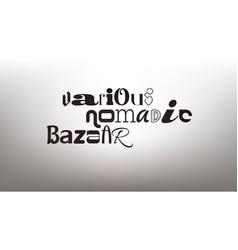 original typography poster vector image