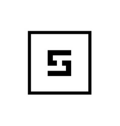 Outstanding letter s logo icon inside square vector