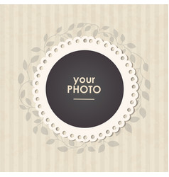 photo frame with nice background vector image