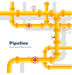pipeline industrial background with gas pipes vector image