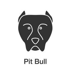Pit bull glyph icon vector