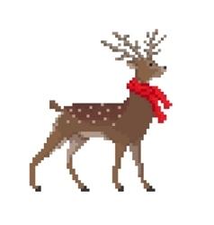 Pixel Deer vector image