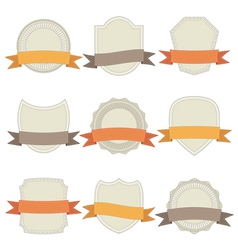Plaques with ribbons vector